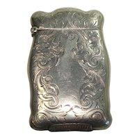 c.1920 Rare Nussbaum & Hunold Acanthus Match Safe or Vesta