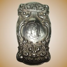 Whiting Sterling Acanthus Match Safe or Vesta ca. 1900