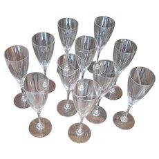 Baccarat Dom Perignon Sherry Glasses