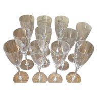 Baccarat Dom Perignon Fluted Champagne Glasses