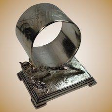 Derby Silver Quadrupleplate Figural Bird Napkin Ring