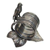 Meriden Silver Plate Figural Ivy Swift Napkin Holder