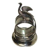 Meriden Silver Plate Peacock Napkin Holder