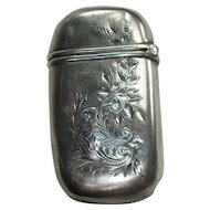 1893 Gorham Engraved Leaf and Acanthus Match Safe
