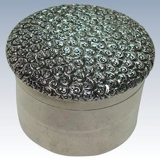 Sterling Vanity Pill or Trinket Box