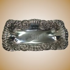 Whiting Art Nouveau Sterling Pin Tray