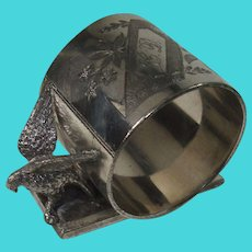 Figural Bird Meriden Silver Plate Napkin Holder