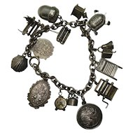 Loaded Sterling Mechanical Charm Bracelet