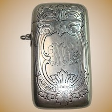 Outstanding Gorham 1911 Acanthus and Scroll Match Safe or Vesta
