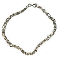 Sterling Italian Triple Strand Serpentine Bracelet
