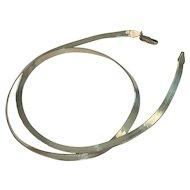 "Italian Sterling 18"" Herringbone Necklace"
