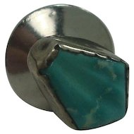 Sterling Native American Turquoise Tie Tack or Pin