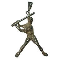 Sterling Baseball Player Pendant