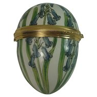 Bilston and Battersea Enameled Floral Egg