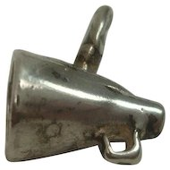 Vintage Sterling Cheerleader Megaphone Charm FREE Shipping