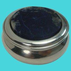 Lapis Silver Plate Trinket Box