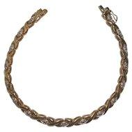 Gold over Sterling X Bracelet