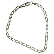 """Sterling 7 1/4"""" Curb Bracelet"""