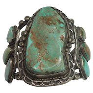 175.2 grams MASSIVE Turquoise Sterling Cuff Bracelet