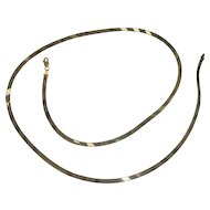 "Reversible Italian Gold over Sterling  Vermeil 26"" Herringbone Necklace"