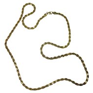 "Sterling Italian Gold over Sterling Vermeil 24"" Rope Style Necklace"