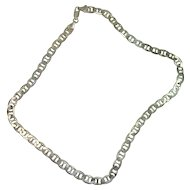 "Italian Sterling 16"" Marina Link Necklace"