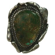 Freeform Green Turquoise Sterling Ring