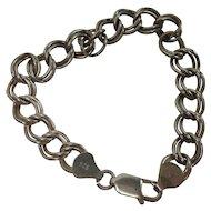 Italian Sterling Double Link Charm Bracelet
