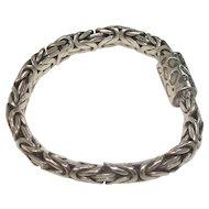 Heavy Byzantine Style Sterling Bracelet