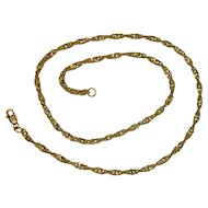 SPARKLY!!  Gold over Sterling Twist Link Necklace 18""