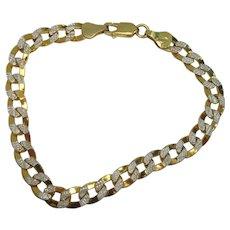 "Italian Gold Vermeil Sterling Link Bracelet 7 1/2"""