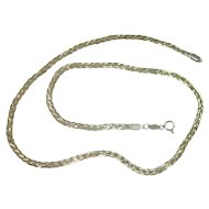 Italian Tri Color Braided Serpentine Necklace