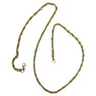 "Gold Vermeil 20"" Twist Link Chain Necklace"