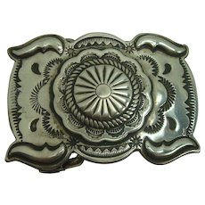 Signed Joesph Eustace Cochiti Sterling Belt Buckle