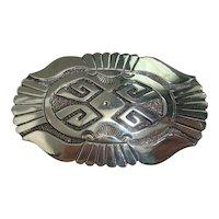 Gibson Gene Navajo Sterling Belt Buckle