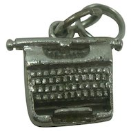Sterling Old Fashioned Typewriter Charm
