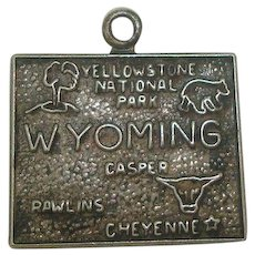 Vintage Sterling wyoming State Charm