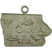 Vintage Iowa State Sterling Charm
