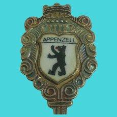 Appenzell Switzerland Souvenir .800 Silver Spoon