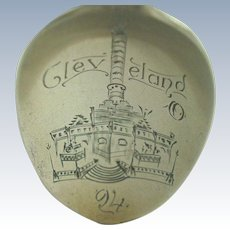 1894 Cleveland Ohio Public Square Cuyahoga Soldiers and Sailors Monument Souvenir Spoon