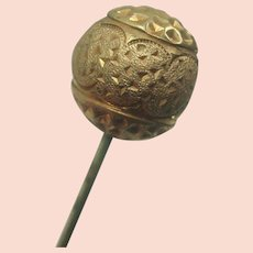 Gold Sphere Hairpin