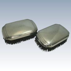 Webster Sterling Clothes Brush Pair c. 1900