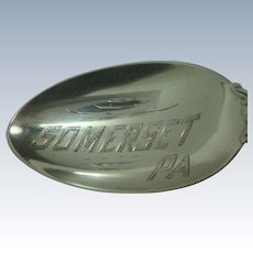 Somerset Pennsylvania Sterling Souvenir Spoon