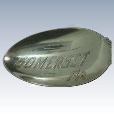 Somerset Pennsylvania Sterling Souvenir Spoon