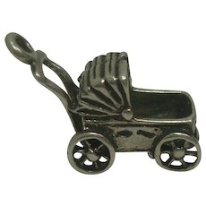 Sterling Baby Buggy Charm