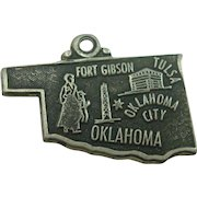 Vintage Oklahoma Sterling State Charm