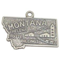 Gorgeous Sterling Montana State Charm by Beau Sterling