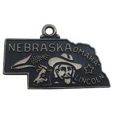 Vintage Nebraska State Sterling Charm