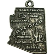 Vintage Arizona State Map Charm