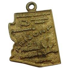 Sterling Arizona State Gold Charm